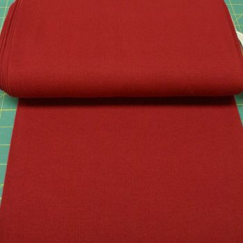 Stretch Ribbing/Collar/Cuff Fabric - Plain Red Wine HW - 95% Cotton 5% Lycra Half Metre