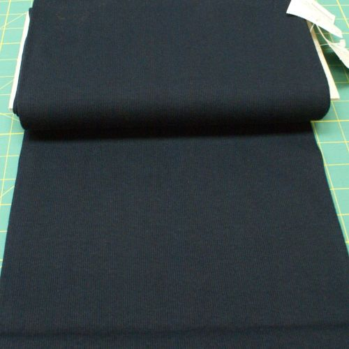 Stretch Ribbing/Collar/Cuff Fabric - Plain Navy HW - 95% Cotton 5% Lycra Ha
