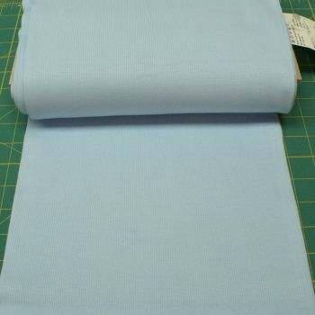 Stretch Ribbing/Collar/Cuff Fabric - Plain Baby Blue HW - 95% Cotton 5% Lycra Half Metre