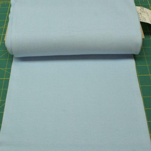 Stretch Ribbing/Collar/Cuff Fabric - Plain Baby Blue HW - 95% Cotton 5% Lyc