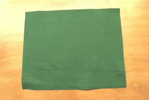 1.5mm Felt Fabric Sheet - Green - 100% Polyester - Rectangular Sheet