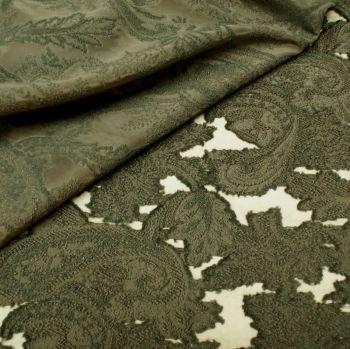 Organza Jacquard Fabric - Black 45% Polyacryl, 30% Polyester, 25% Polyamide - Half Metre