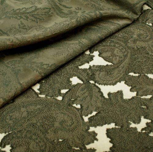 Organza Jacquard Fabric - Black 45% Polyacryl, 30% Polyester, 25% Polyamide