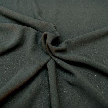 Glitter Poly Viscose Blend Fabric - Navy - 64% Polyester, 32% Viscose, 4% Lycra Half Metre