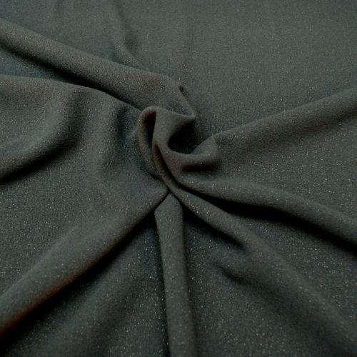 Glitter Poly Viscose Blend Fabric - Navy - 64% Polyester, 32% Viscose, 4% L