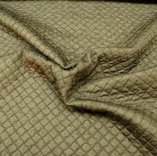 Puffer Jacket Fabric - Grey/Brown - 100% Polyester - Half Metre