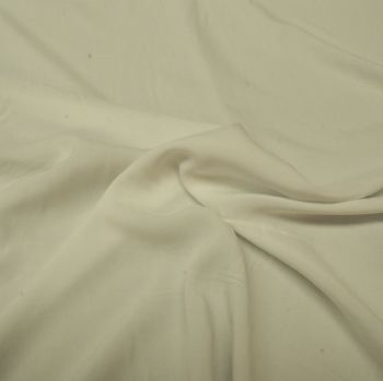 Viscose Voile Fabric - White - 100% Viscose - Half Metre