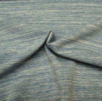 Stretch Jersey Fabric - Blue Melange - 45% Polyester, 25% Cotton, 20% Polyamide, 10% Lycra Half Metre