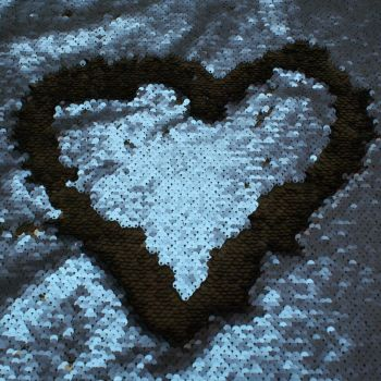 Sequin Jersey Fabric - Changeable Blue Black - 100% Polyester - Half Metre