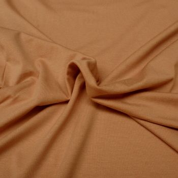 Viscose Stretch Jersey Knit Fabric - Plain Peach - 95% Viscose, 5% Lycra - Half Metre