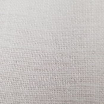 Linen Fabric - White - 100% Linen - Half Metre