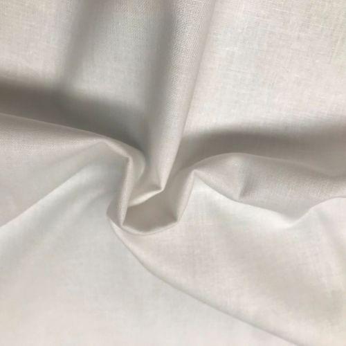Calico Fabric - White - 100% Cotton - 60 inch wide - Half Metre