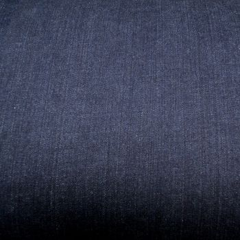 Stretch Denim Fabric - Indigo Blue - 98% Cotton, 2% Elastane - Half Metre