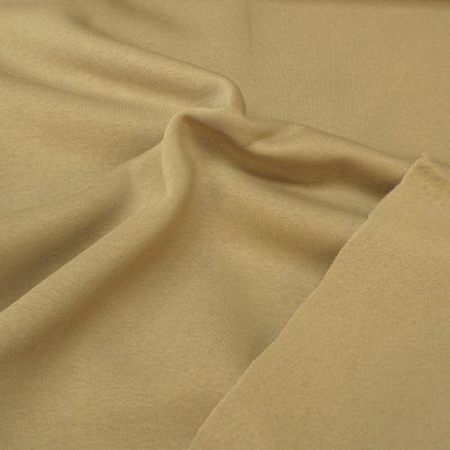 Plain Jogging / Sweatshirt Fabric - Sand - 70% Cotton, 30% Polyester - Half