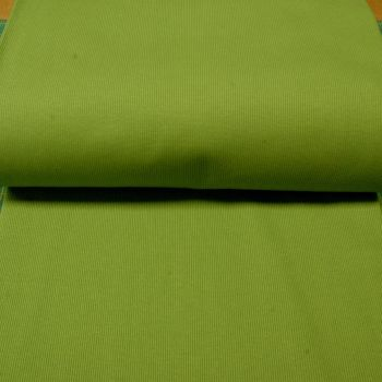 Stretch Ribbing/Collar/Cuff Fabric - Plain Grass Green HW - 97% Cotton 3% Lycra Half Metre