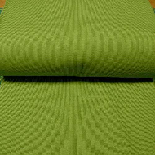 Stretch Ribbing/Collar/Cuff Fabric - Plain Grass Green HW - 97% Cotton 3% L