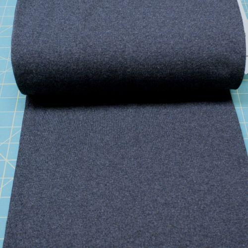 Stretch Ribbing/Collar/Cuff Fabric - Dark Blue Marle HW - 60% Cotton, 35% P