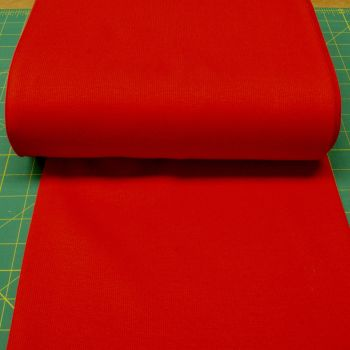 Stretch Ribbing/Collar/Cuff Fabric - Plain Red HW - 95% Cotton 5% Lycra Half Metre