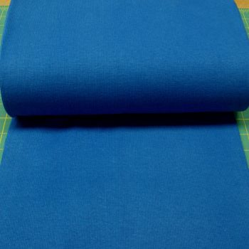 Stretch Ribbing/Collar/Cuff Fabric - Plain Blue HW - 95% Cotton 5% Lycra Half Metre