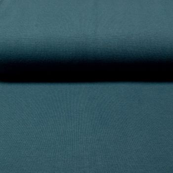 Stretch Ribbing/Collar/Cuff Fabric - Denim Blue LW - 96% Cotton 4% Lycra Half Metre