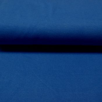 Stretch Ribbing/Collar/Cuff Fabric - Royal Blue LW - 96% Cotton 4% Lycra Half Metre