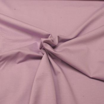 Stretch Jersey Knit Fabric - Plain Lilac - 95% Cotton 5% Lycra Half Metre