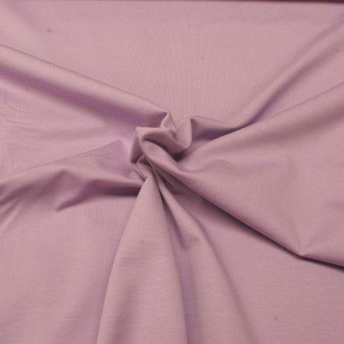 Stretch Jersey Knit Fabric - Plain Lilac - 95% Cotton 5% Lycra Half Metre