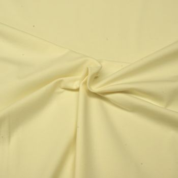 Stretch Jersey Knit Fabric - Plain Cream - 95% Cotton 5% Lycra Half Metre