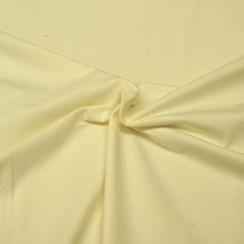 Stretch Jersey Knit Fabric - Plain Cream - 95% Cotton 5% Lycra Half Metre