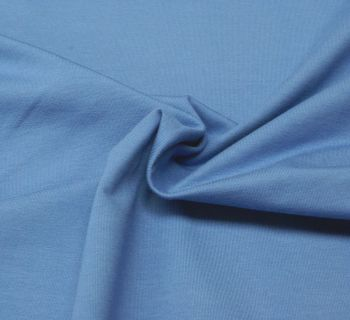 Stretch Jersey Knit Fabric - Plain Light Blue - 95% Cotton 5% Lycra Half Metre
