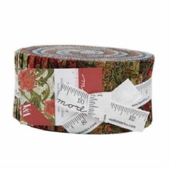 Moda Fabric - Morris Holiday - Jelly Roll - 100% Cotton
