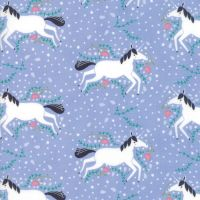 Moda Fabric - Enchanted - Unicorns Galore - Lavender - 100% Cotton