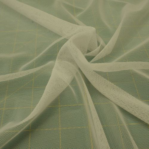 Body Mesh Fabric - White - Polyester Lycra - Half Metre - Similar to Power