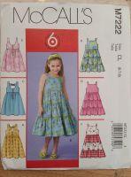 McCalls Pattern - M7222 - Girls Dresses - Age 6-8