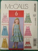 McCalls Pattern - M7222 - Girls Dresses - Age 2-5