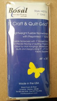 "Bosal - Lightweight Fusible Nonwoven Interfacing - 1"" Printed Grid"