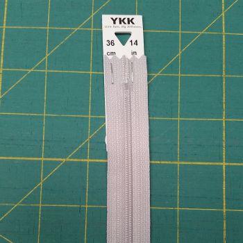 YKK - 36cm 14 inch Zip - Grey