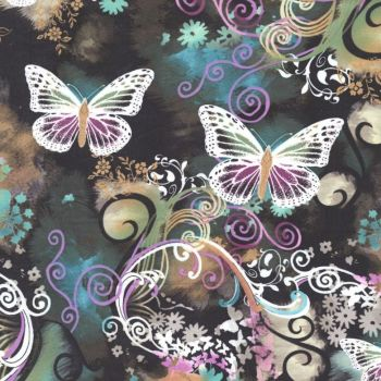Michael Miller Fabric - Filigree Flutter - 100% Cotton