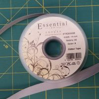 Essential Trimmings - 14mm Cotton Tape - Grey - per metre