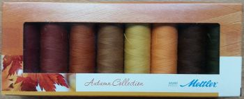 Mettler Threads - Autumn Collection Gift Pack - 8 x 200m Seralon Polyester Reels