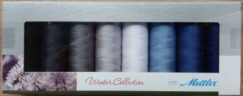 Mettler Threads - Winter Collection Gift Pack - 8 x 150m No.50 Cotton Reels