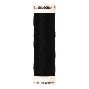 Mettler Threads - Seralon Polyester - 100m Reel - Black 4000