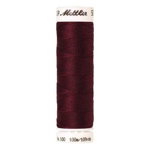 Mettler Threads - Seralon Polyester - 100m Reel - Bordeaux 0109