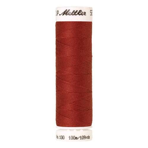 Mettler Threads - Seralon Polyester - 100m Reel - Dark Rust 0508