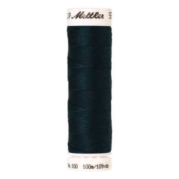 Mettler Threads - Seralon Polyester - 100m Reel - Dark Greenish Blue 0763