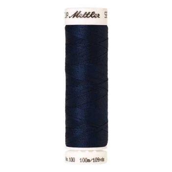 Mettler Threads - Seralon Polyester - 100m Reel - Night Blue 0823