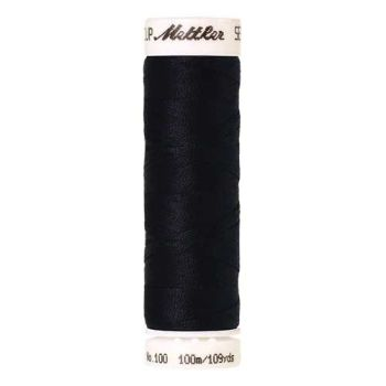 Mettler Threads - Seralon Polyester - 100m Reel - Darkest Blue 0821