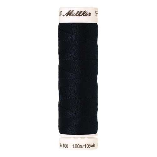 Mettler Threads - Seralon Polyester - 100m Reel - Blue Black 0810