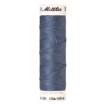 Mettler Threads - Seralon Polyester - 100m Reel - Smoky Blue 0351