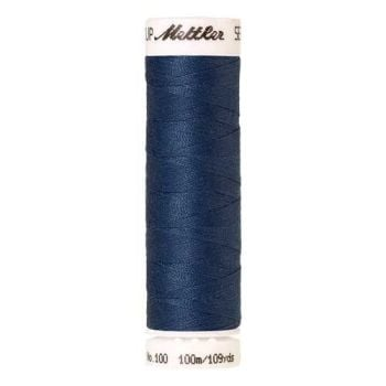 Mettler Threads - Seralon Polyester - 100m Reel - Steel Blue 1316